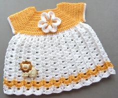 Free baby crochet pattern sunshine dress usa Some of the cutest baby clothes from preemie to 18 months! +