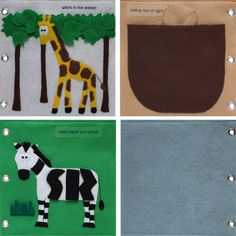 """""""To The Zoo"""" - Quiet Book"""