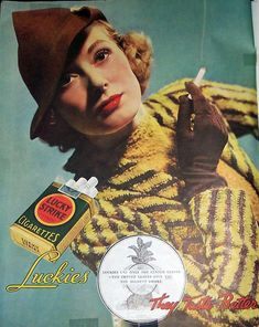 Lucky Strike Cigarettes Vintage Ad