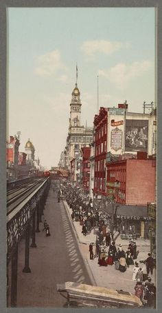 Sixth Avenue  :  New York City  :  circa 1901 #VintagePhotograph