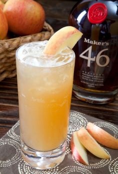 A drink for the season!  A delicious blend of Maker's 46, apple and lemon juices, simple syrup and ginger beer.