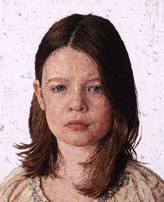 Peintures de Fils densément brodés par Cayce Zavaglia - Chambre237