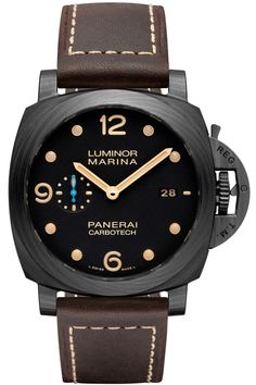 """Panerai Luminor Marina 1950 Carbotech 3 Days Automatic PAM661 Watch - by Zen Love - learn all about it now on aBlogtoWatch.com Among Panerai's sudden heap of new models today, the Panerai Luminor Marina 1950 Carbotech 3 Days Automatic PAM661 watch... is immediately and obviously distinguished by it's black carbon case with a wooden grain-like pattern, but there are also some interesting details to note as well as an updated movement..."""""""