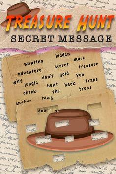 Scavenger Hunt Riddles, Adult Scavenger Hunt, Christmas Scavenger Hunt, Treasure Hunt Games, Clues For Treasure Hunt, Treasure Hunting, Indiana Jones Party, Message Secret, Escape Room Challenge