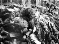 Victims of the firestorm caused by the allied bombing of the city of Dresden. Dresden Germany, Dresden Bombing, Victory In Europe Day, Invasion Of Poland, The Old Days, German Army, Us History, Weird World, Historia