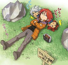 Inazuma eleven - Suzuno, Burn chibi and Hiroto
