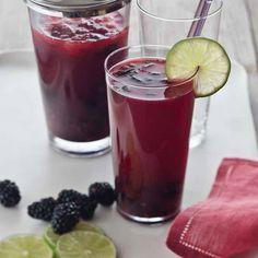 Tasty Blackberry Mojitos! #refreshing #summer #mojito