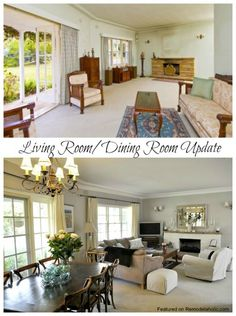living room and dining room updates