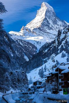 Matterhorn, Swiss Alps, View from Zermatt
