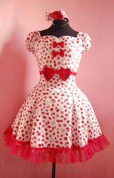 Strawberry Lolita Dress, the bust line is too high for sweetheart style though.