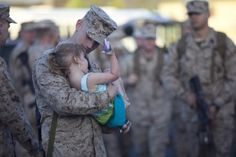 Cpl. Griffin W. Sutherland, rifleman, Fox Company, 2nd Battalion, 3rd Marine Regiment, says goodbye to his daughter before his deployment to Darwin, Australia, April 2. The Marines and sailors will work closely with their Australian allies on world-class ranges to increase their training capabilities.  Marine Corps Base Hawaii – Kaneohe Bay  Photo by Cpl. Vanessa American Horse  Date Taken:04.02.2012  KANEOHE, HI, US  http://www.dvidshub.net/image/553215/2-3-fox-heads-australia#ixzz1rewDw694