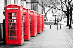 red phoneboxes photo print whimsical fine art by secretgardentwo