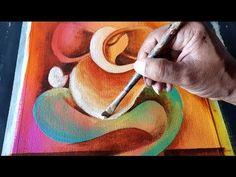 Abstract GANESHA Painting in Acrylics / Demonstration / Om Ganeshay Namah - YouTube