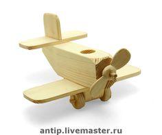 """Купить """"Самолёт""""- деревянная игрушка - дерево, авторская игрушка, дерево, фанера"""