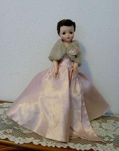 Madame Alexander Cissy's Rare Pink style #2041 gown, hoop slip, & Orlon shawl.  MY LOVELY DREAMLAND DOLL!!