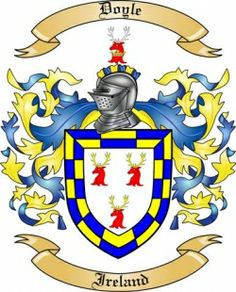 jacobs coat of arms ireland | we do have the doyle coat of arms family crest from ireland along with ...