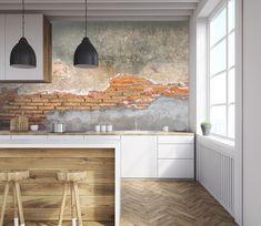 Wallpaper Paste, 3d Wallpaper, Concrete Bricks, Adhesive Vinyl, Brick Wall, Wall Stickers, Wall Murals, Wall Decor, Environment