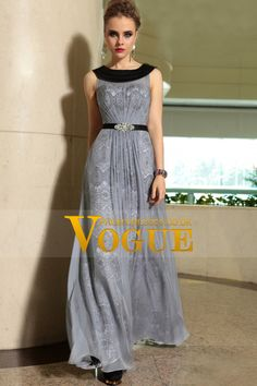 2014 Athens Style Scoop Neckline Floor Length Tulle Dresses #30895 (Color Just As Picture Show)