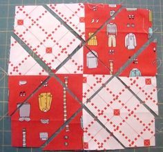 4 Patch Disappearing Quilt Block; Criss Cross