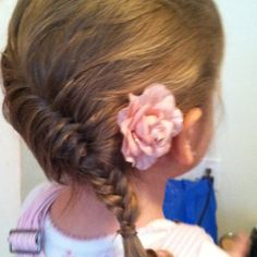 Fishtail French braid I did on my baby girl