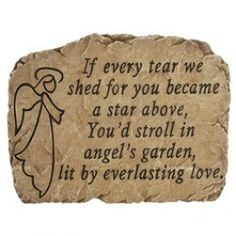 Memorial heart cut out stepping stone stone family garden and gardens this memorial garden stone provides soothing comfort for the loss of a love one memorial workwithnaturefo