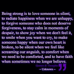 #BeingStrong <3