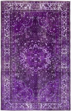 Purple overdyed Persian style carpet