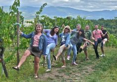Tuscan wine tasting tour out of Florence, a a group of wine lovers in one of my wine tour in the Chianti region, perhaps too much wine?