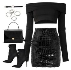 """""""Sem título #5032"""" by fashionnfacts ❤ liked on Polyvore featuring Puma, Yves Saint Laurent, Jeffrey Campbell, Forever 21 and Daniel Wellington"""