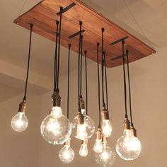 Rustic industrial bulbs, love it! And coming soon to funky forest.