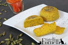#Carrot and #philadelphia cheese #flan with #cardamom pods and #poppy seeds - Fratelli ai Fornelli