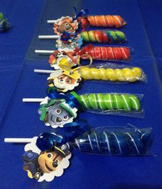 8 Paw Patrol Party Favor Lollipops by GlitterVixenDesigns on Etsy