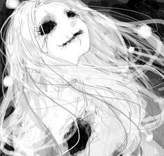 Imagem de anime, black and white, and creepy