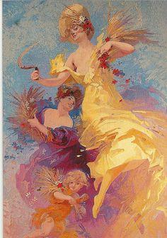 Jules Cheret foi um dos mais importantes cartazista francês e é influenciado pelo estilo barroco. Este aprendeu a desenhar e pintura autonomamente. Os seus cartazes e tais como os outros são impressos com a técnica de cromolitografia