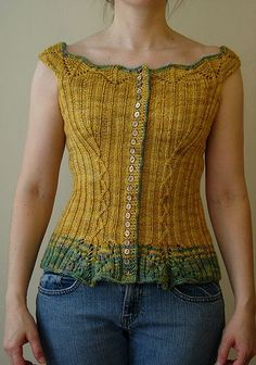 Corset pattern. I would knit this in different color, but pattern is nice!