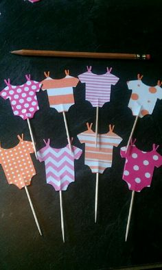 Cupcake toppers or for appetizer... Could choose patterns and make them yourself.