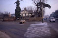 Brigadier House, owned at the time by Doc Wood. This picture from the early sixties shows the horse trough in its original location at the intersection of Brigadier Hill and Lancaster Road. Enfield Middlesex, Horse Trough, Family Memories, Lancaster, Old Pictures, Family History, Buildings, Childhood, Horses