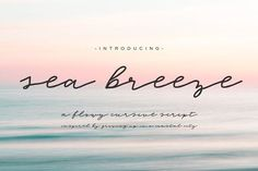 Sea Breeze Signature Script by BeckMcCormick on @creativemarket