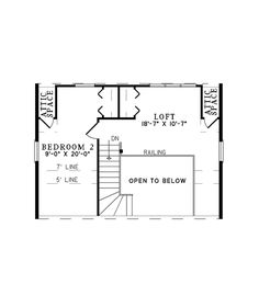 Log House Plan Second Floor - 073D-0047 | House Plans and More