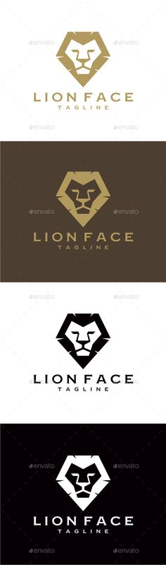 Lion Face Logo Design Template Vector #logotype Download it here: http://graphicriver.net/item/lion-face/9276978?s_rank=1622?ref=nexion
