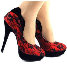Quick Shop Sale! Red Lace. Save 50%