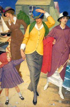 Joseph Edward Southall (British painter) 1861 - 1944 Along the Shore, 1914 tempera on silk 53.3 x 36.8 cm. (20.98 x 14.49 in.) Gallery Oldham, United Kingdom