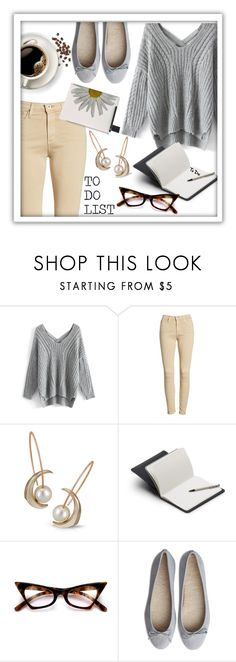 """Working on my To Do list."" by queenofsienna ❤ liked on Polyvore featuring Chicwish, AG Adriano Goldschmied and Bellroy"