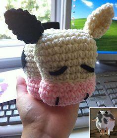 Legend of Zelda Cow: free #crochet how to