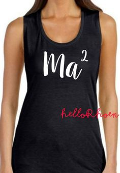 Ma squared Ma2 tank / mom tee / mom tank by HelloRhoen on Etsy