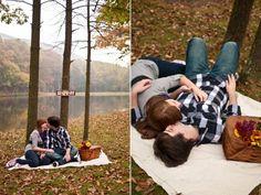 Sarah & Dan- Fall Picnic Engagement Session
