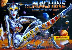 The Machine Bride of Pin-Bot Pinball Machine (Williams 1991) - played in Chicago, IL