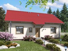 Wizualizacja ARD Aster 2 paliwo stałe CE Aster, House Plans, Outdoor Structures, Mansions, House Styles, Outdoor Decor, Modern Houses, Home Decor, Stone Houses