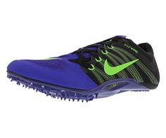 90048f18260b5 Nike Zoom Ja Fly Track Spikes Shoes Mens Size 12 (Purple Poison Green Black)
