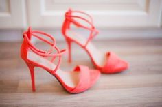 Coral shoes.